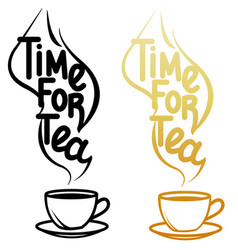 cup and lettering vector image