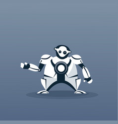 Modern robot artificial intelligence futuristic vector