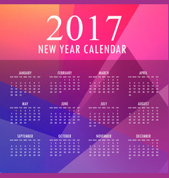 2017 colorful new year design with abstract shapes vector