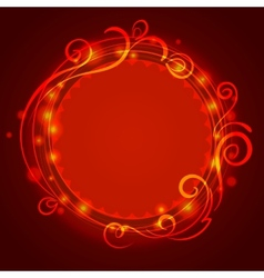 Abstract red mystic lace background with swirl vector