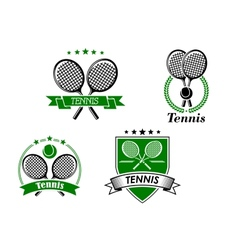 Four tennis badges and emblems vector