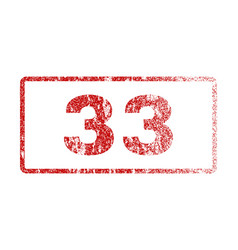 33 rubber stamp vector image vector image