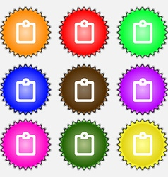 Text file icon sign a set of nine different vector