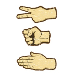 Rock scissors paper vector