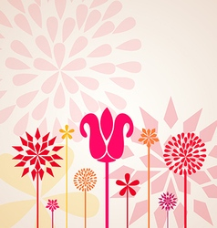 Decorative floral design vector