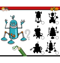Shadows task with robots vector