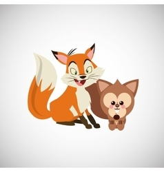 Animal cartoon design vector