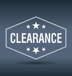 Clearance hexagonal white vintage retro style vector