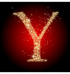 letter star y vector image