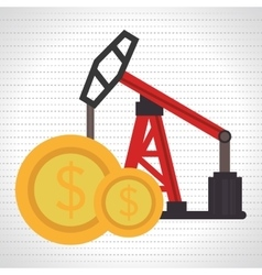Oil and currency isolated icon design vector