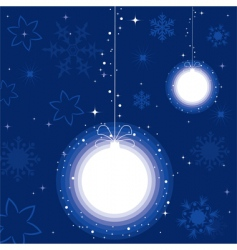 a ball for Christmas tree vector image vector image