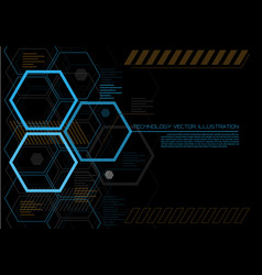 abstract hexagon futuristic technology vector image vector image