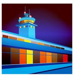 airport at night vector image vector image