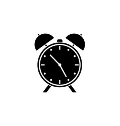 Alarm clock solid icon school and office element vector