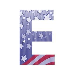 american letter E vector image vector image