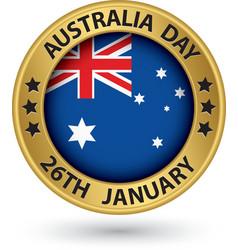 Australia day gold label vector
