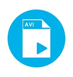 Avi file icon vector