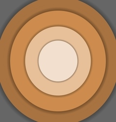Brown circle material design background vector