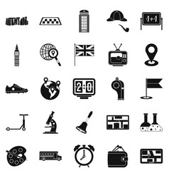 Bus icons set simple style vector