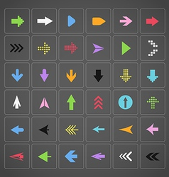 Color arrow buttons interface template vector