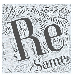 Comparison shopping when re financing word cloud vector