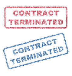 Contract terminated textile stamps vector