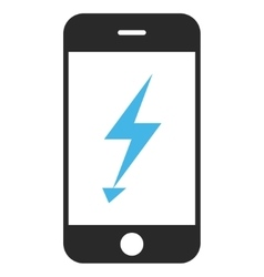 Electric mobile phone eps icon vector