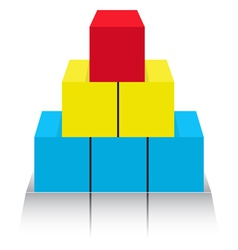 Figure from cubes vector image vector image