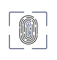 fingerprint with key pattern inside vector image vector image