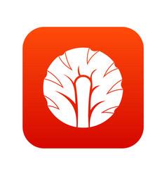 fresh slice of broccoli icon digital red vector image