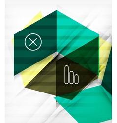 Futuristic blocks geometric abstract background vector image