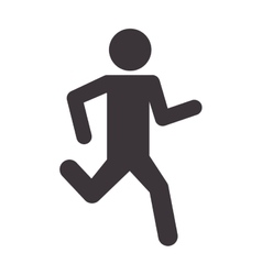 man silhouette running sport icon vector image