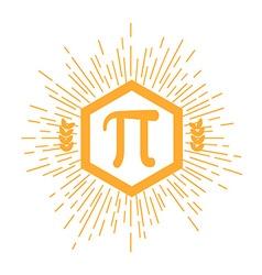 Mathematic Pi icon flat vector image