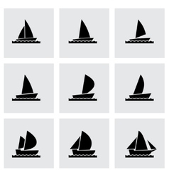 Sailboat icon set vector