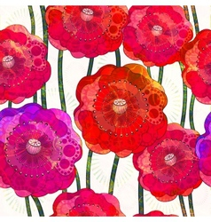 Seamless pattern of poppies EPS 10 vector image vector image