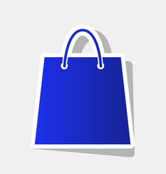 shopping bag new year bluish vector image vector image