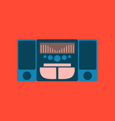 Technology gadget in flat design music center vector