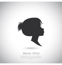 template abstract logo for woman salons and vector image vector image