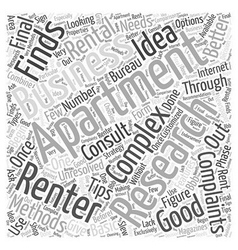 Tips for finding a rental apartment word cloud vector