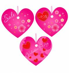 Valentine's Day hearts vector image vector image