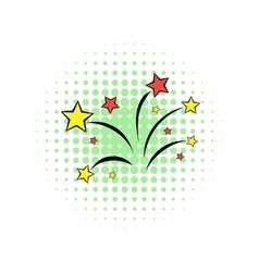 Wedding salute comics icon vector image