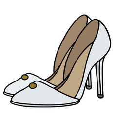 White high heel shoes vector