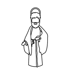 Joseph cartoon of holy night design vector