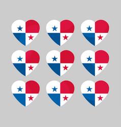 Heart with the flag of panama i love panama vector