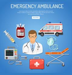 medical emergency ambulance concept vector image