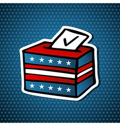 Usa elections ballot box vector