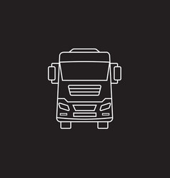 truck icon transport symbol graphics vector image