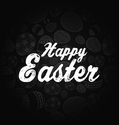 Easter greeting card on black background vector