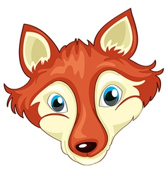 A head of a fox vector