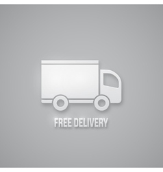 Free delivery sign vector image